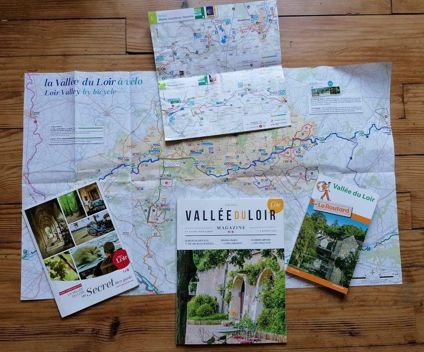 Carte Loir à vélo