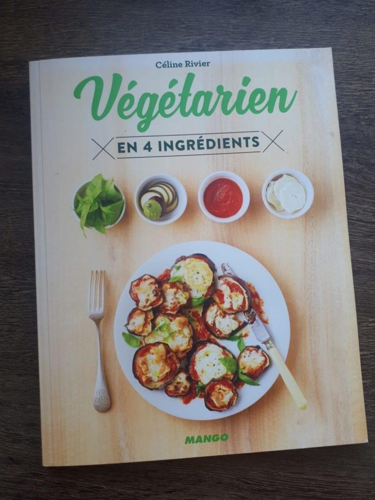 Livre Végétarien en 4 ingrédients pour recettes de voyage
