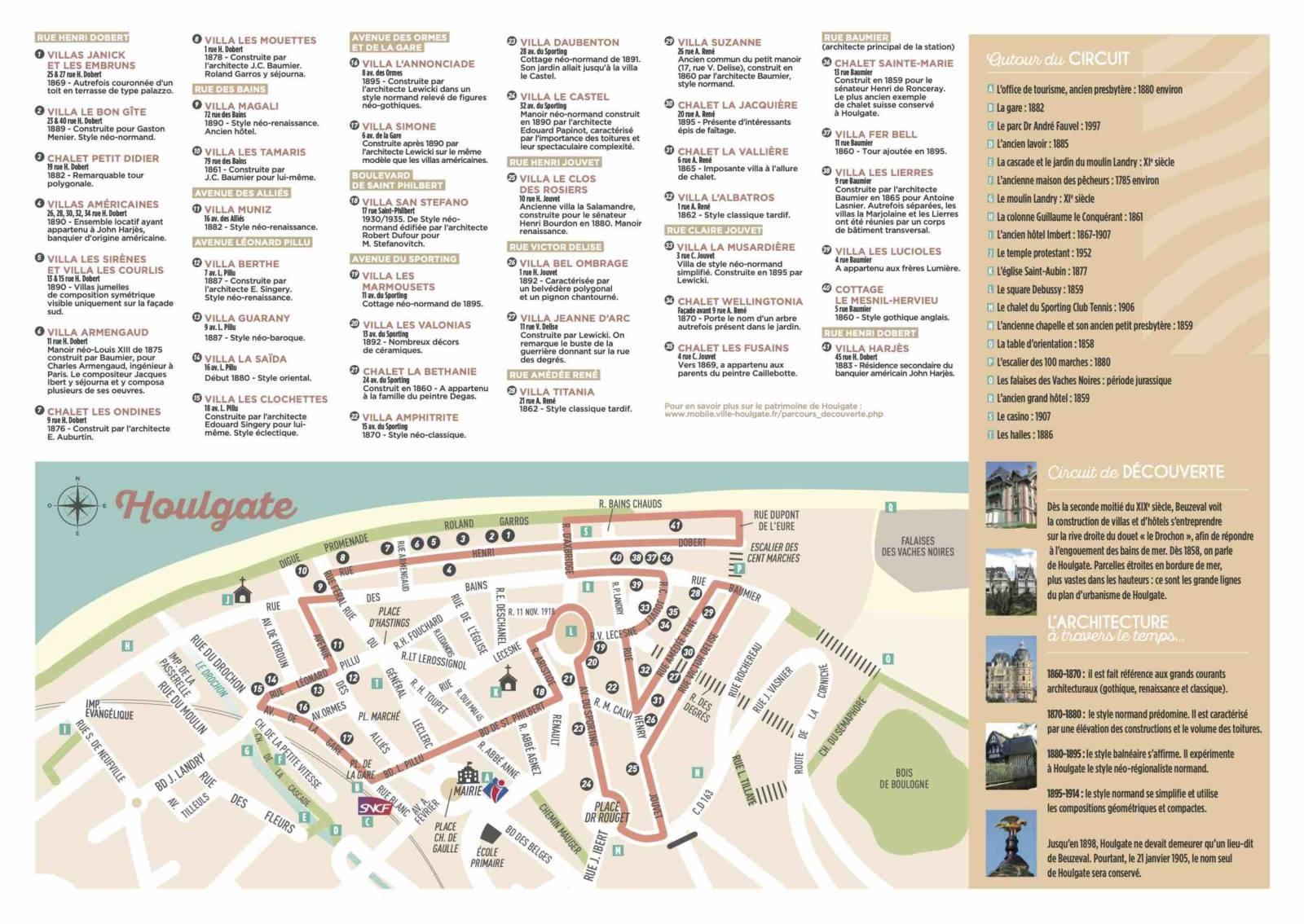 Circuit des villas d'Houlgate office de tourisme